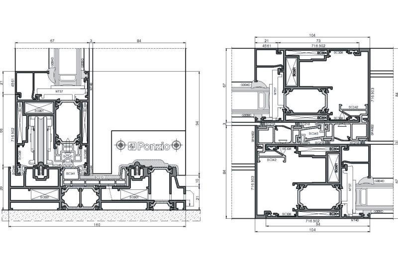 sliding-systems ponzio sliding-1600tt - aluminium-joinery