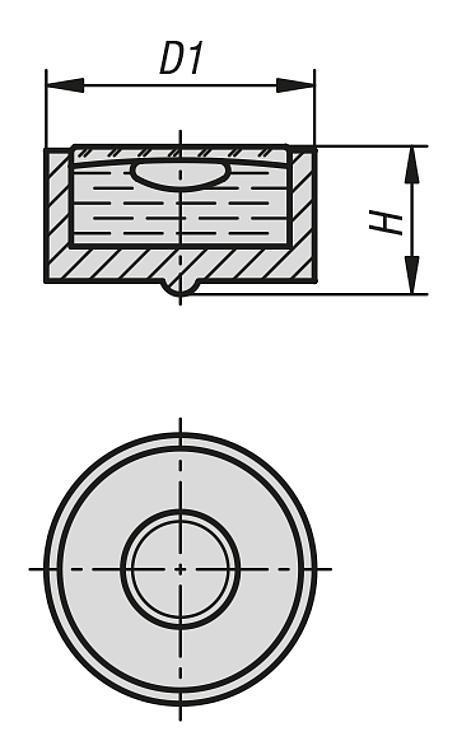 Corps de nivelle sphérique en plastique - Nivelles