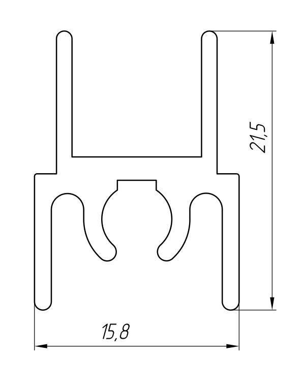 Aluminum Profile For Wardrobes Ат-3229 - Aluminum profile for wardrobes