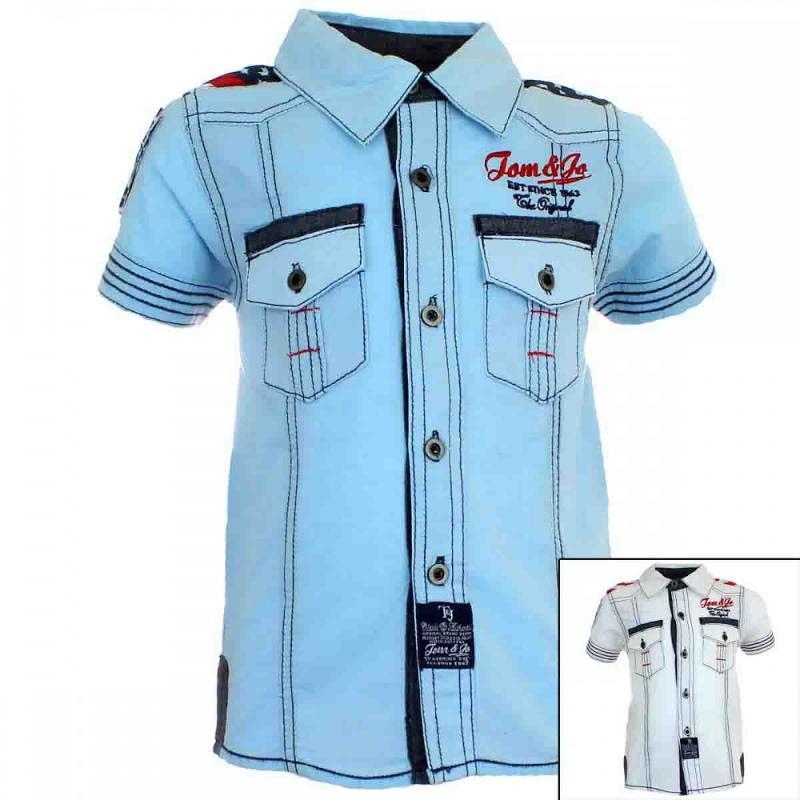10x Chemises manches courtes Tom Jo du 6 au 14 ans - Chemise