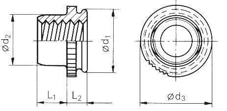 Self-clinching fasteners - PEM® - Self-clinching nuts