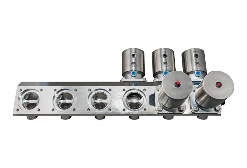 SISTO-CM1200 Multi-Port valve, forged body, PN16 - Multi-Port Valve,1.4435, butt welded/Clamp, enclosed diaphragm spirale supported