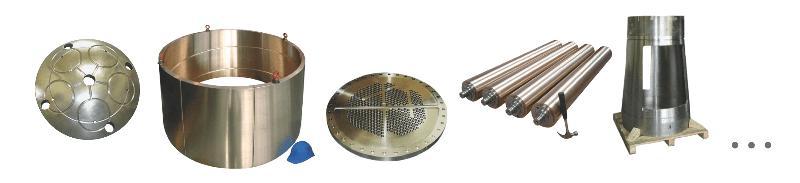 Gland bushing, tubular plate, roller, rotary feeder... -