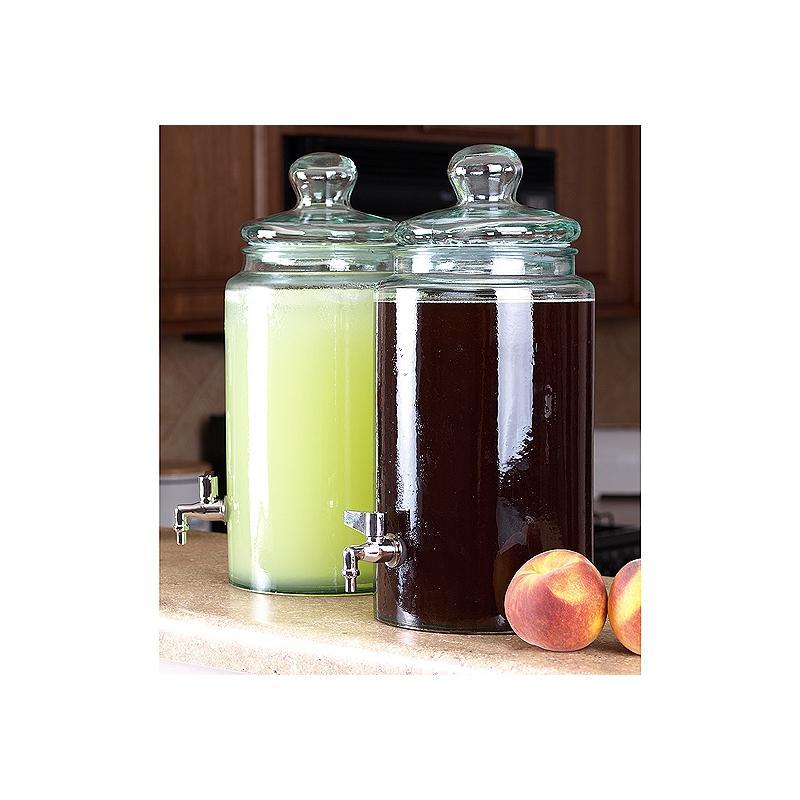 bonbonne cylindrique 6 litres avec robinet et couvercle en verre bonbonnes et bonbonni res mcm. Black Bedroom Furniture Sets. Home Design Ideas