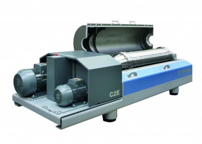 C2E Dekanterzentrifuge - Die Dekanterzentrifuge C2E für die Schlammentwässerung auf kleinen Kläranlagen.