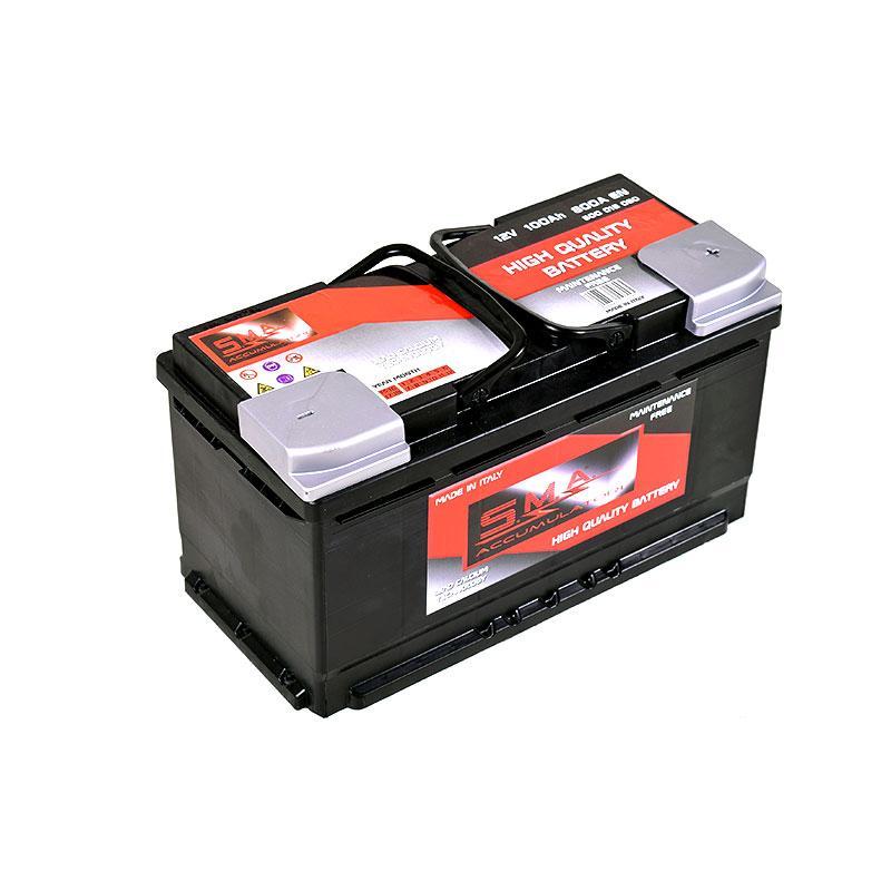 Batteries de démarrage - série DIN L5 100ah - Fabricant italien batteries de voitures