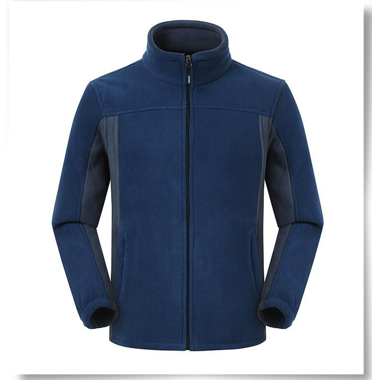 Polar fleece zipper jacket - Contrast color jacket