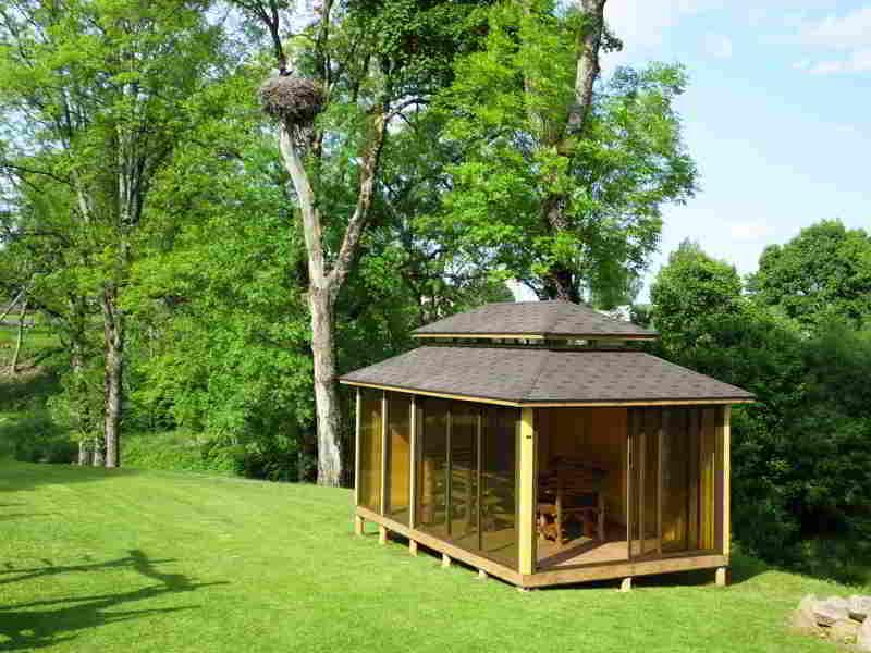 CLOSED GAZEBO - Will save you from annoying insects and rain