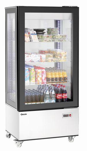Mini-Kühlvitrine 78L, silber - null
