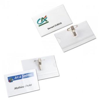 Badge épingle plastique P05 - Réf: P05