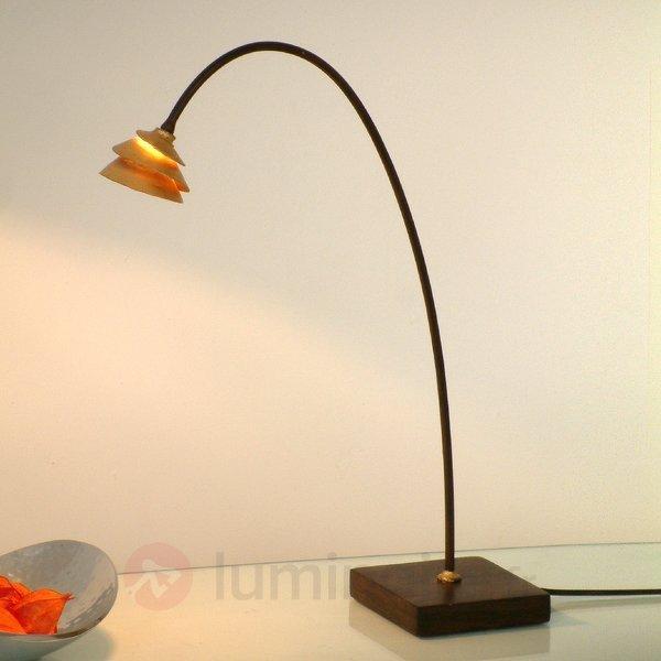 Élégante lampe à poser SNAIL en fer, brun et doré - Toutes les lampes à poser