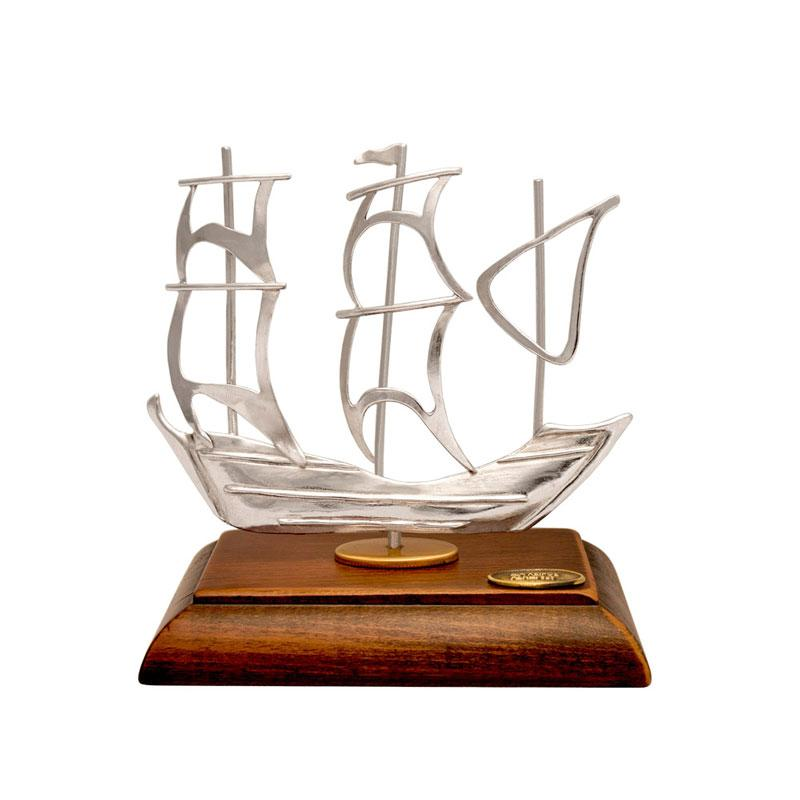 Greek Traditional Sterling Silver Sailboat (A-41-32)
