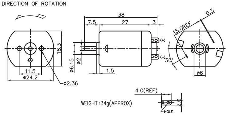 PC-260 - Brush DC Motor