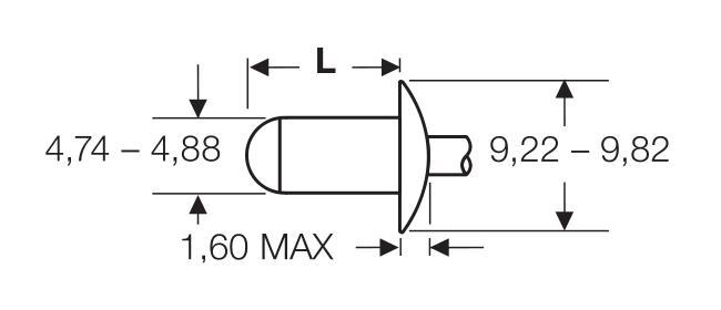 Blind rivet technology - POP® - High-strength F-Grip rivets - Domed head