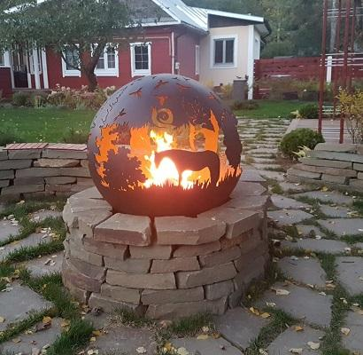 """Fire pit Orb """"Hedgehog in the Fog"""" -"""