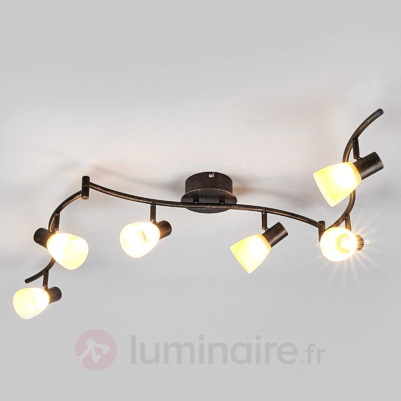 LED OSRAM - plafonnier Duena abat-jour en verre - Plafonniers LED