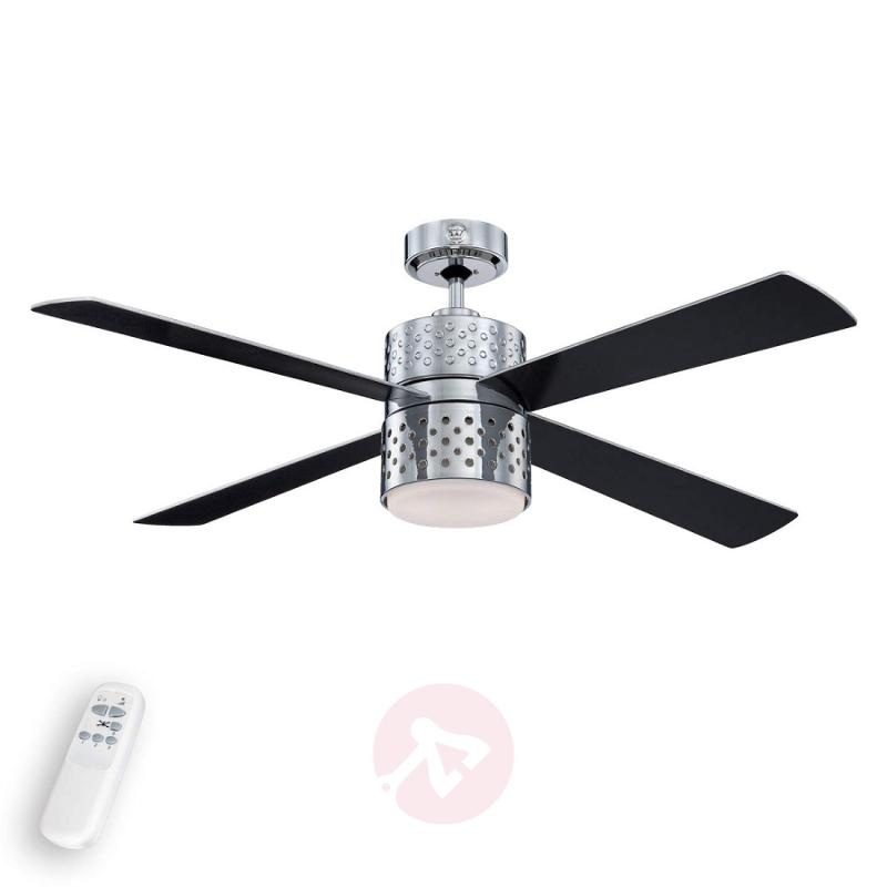 Lenerco chrome-plated ceiling fan with light - fans
