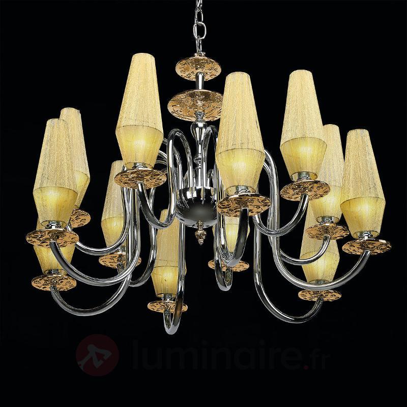 Lustre Karma à 12 lampes ambre - Lustres designs, de style