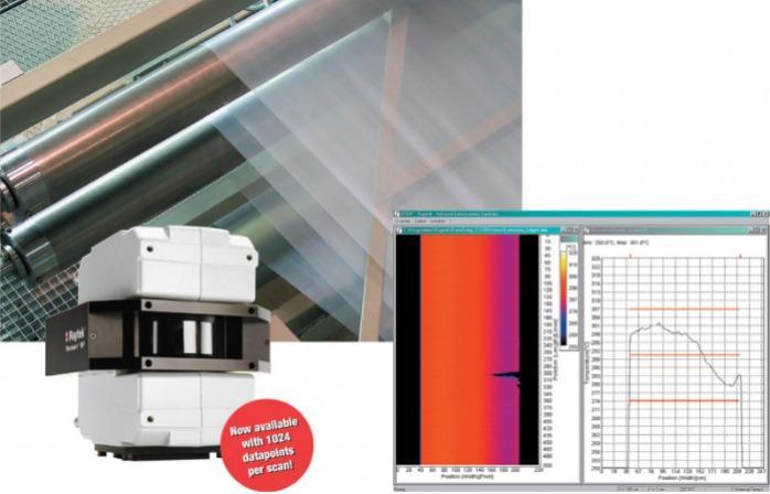 Raytek EC150 Wärmebildsystem für die Kunststoffextrusion - IR-Zeilenscanner-Wärmebildsystem überwacht Extrusionsprozesse kontinuierlich