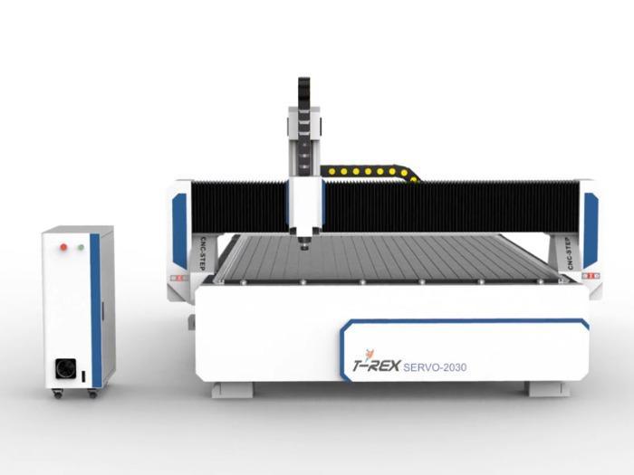 Servomotoren Fräse T-Rex Servo-2030 - CNC Portalfräsmaschine mit man. Zentralschmierung, Bedienpult & Vakuumtisch