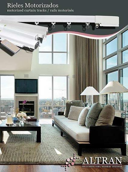 Rieles Motorizados - Motorizaciones con aplicación domótica para cortinas pesadas y ligeras