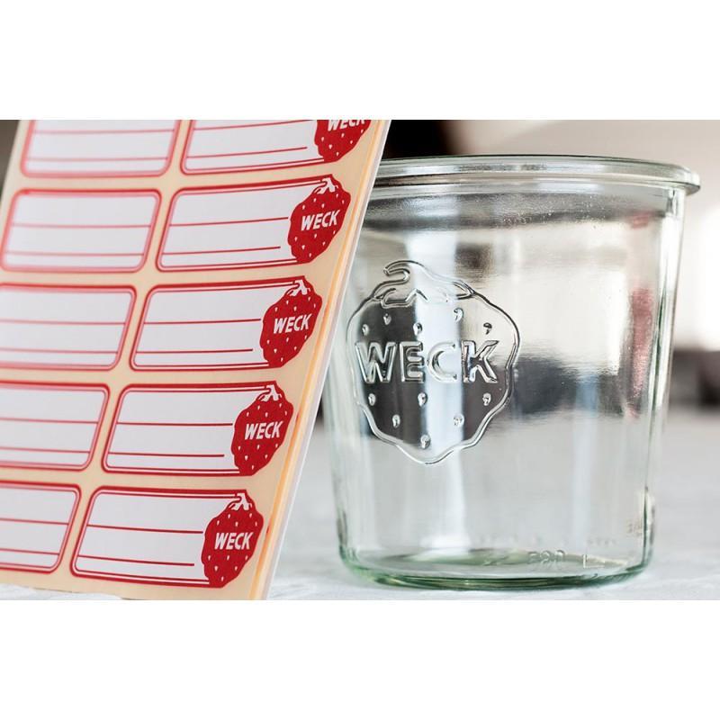 Accesorios WECK® - 1 paquete de 100 etiquetas Weck para etiquetar sus tarros y sus conservas