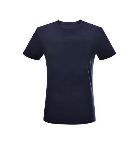 La camiseta de manga corta de lycra para hombres - Alrededor del cuello de la camiseta para los hombres
