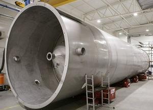 Der Behälter aus Edelstahl  - Lebensmittelindustrie - Schweißkonstruktionen
