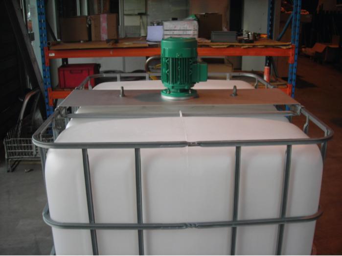 Agitador de hélice - Para misturas de tanques