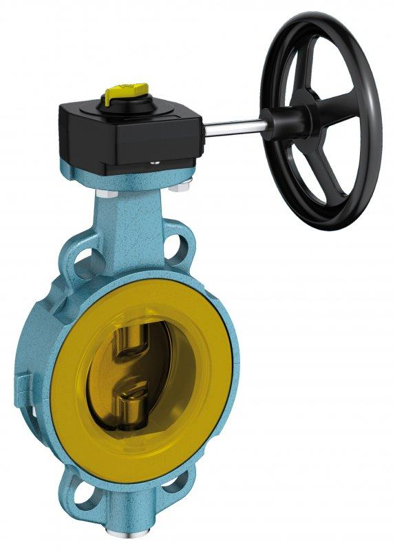 Shut-off and control valve type Z 011-GMX - This wafer type valve is suitable for applications with abrasive media.