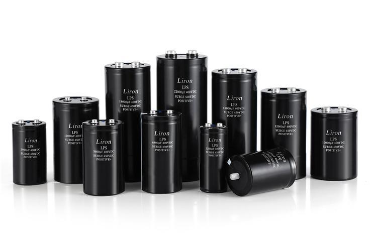 Liron LHRX 105 centigrade screw terminal aluminum electrolytic capacitor - SCREW TERMINAL CAPACITOR