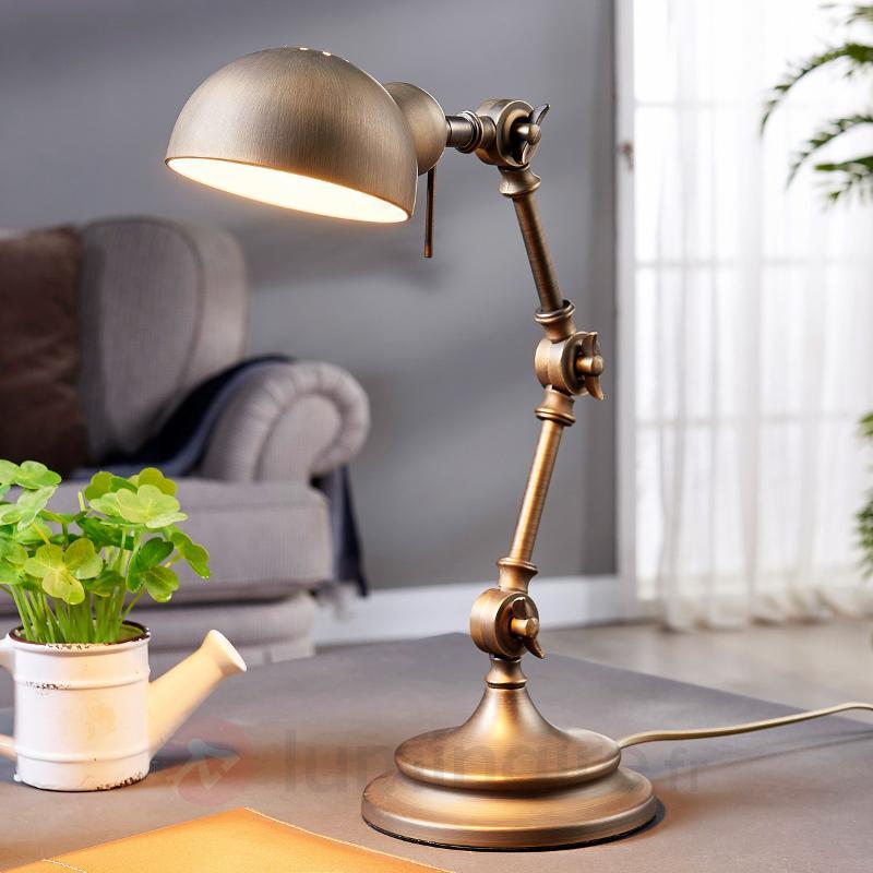 Ellisen - lampe de bureau couleur bronze - Lampes de bureau