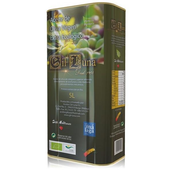 Aceite de Oliva Virgen Extra Ecológico - Lata 5 litros Ecológico en caja de 3 unidades