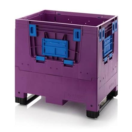 Collapsible big boxes - Collapsible big boxes 80x60x79 cm - deposit window - 2 skids