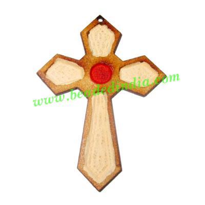 Handmade wooden cross (christian) pendants, size : 44x32x1.5 - Handmade wooden cross (christian) pendants, size : 44x32x1.5mm