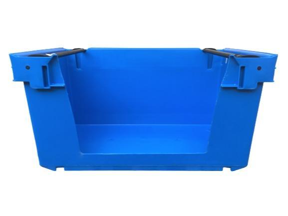 Cajas de plástico apilables y encajables - Caja picking apilable sobre barras abatibles, 35L (cerrada y/o rejada)