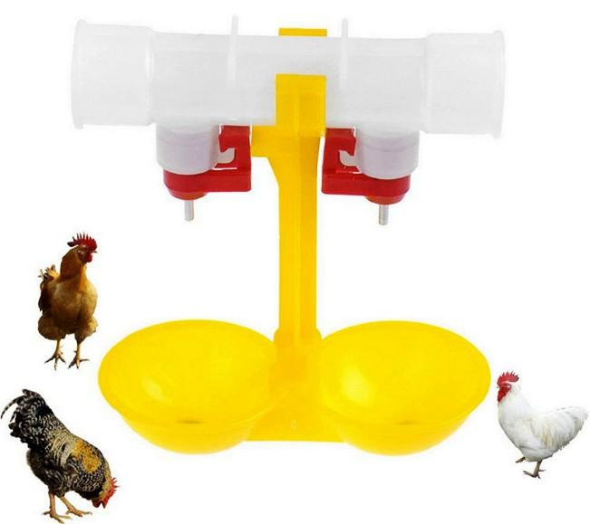 automatic double chicken/poutry nipple drinker  - automatic poultry double nipple drinker for chicken