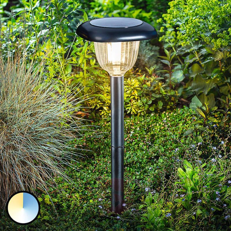 LED solar lamp Classic Light with duo-colour - outdoor-led-lights