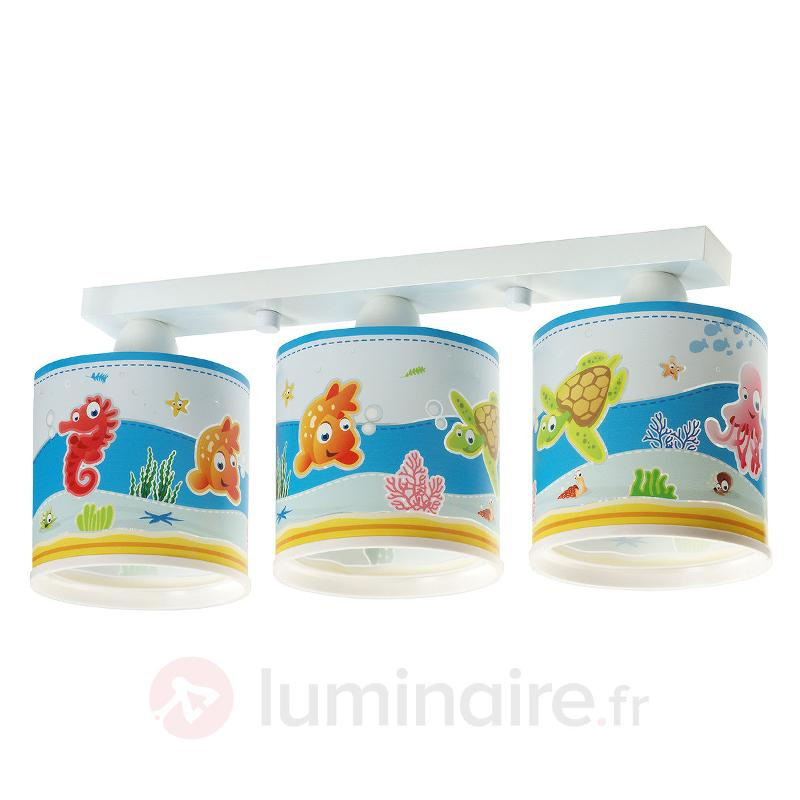 adorable plafonnier aquarium trois lampes chambre d 39 enfant luminaire fr allemagne. Black Bedroom Furniture Sets. Home Design Ideas