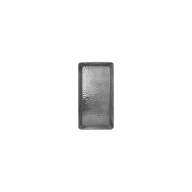 Plateau Aluminium Rectangle 25x13 Cm - FEUILLE MARTELÉE