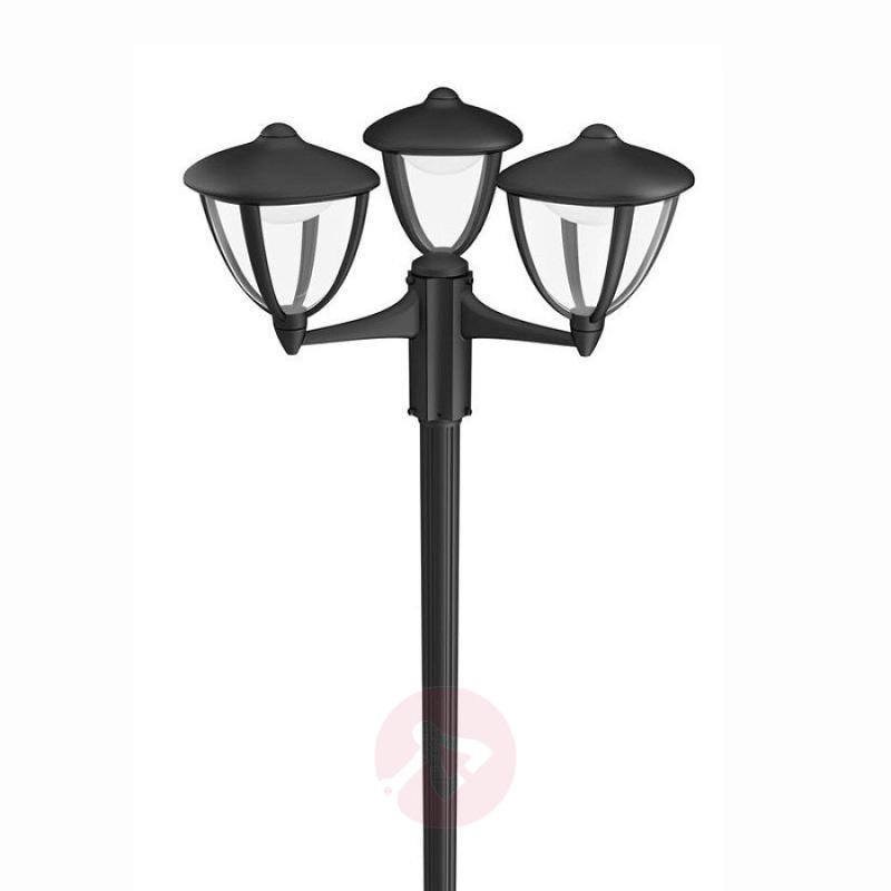 3-bulb LED post light Robin - outdoor-led-lights