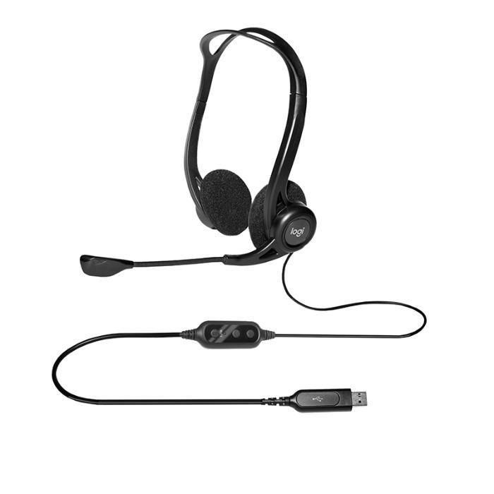 Zestaw słuchawkowy firmy Logitech - Logitech Headset 981-000100 960 czarny