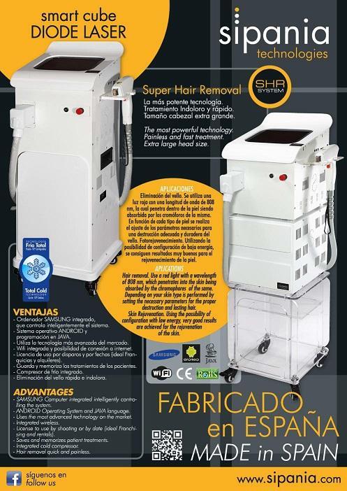 smart cube DIODE LASER - Super Hair Removal  La más potente tecnología. Tratamiento indoloro y rápido. Ta
