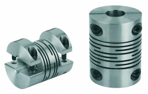 Federstegkupplung, abnehmbare Klemmnabe - Federstegkupplungen mit abnehmbaren Klemmnaben, Aluminium oder Edelstahl