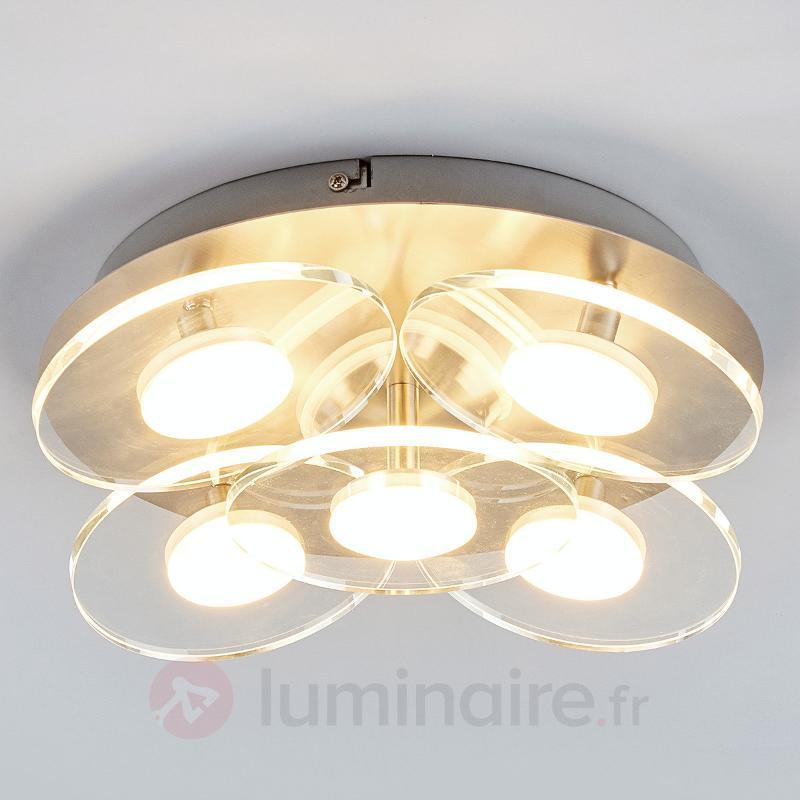 Plafonnier LED Tiam à 5 lampes - Plafonniers LED
