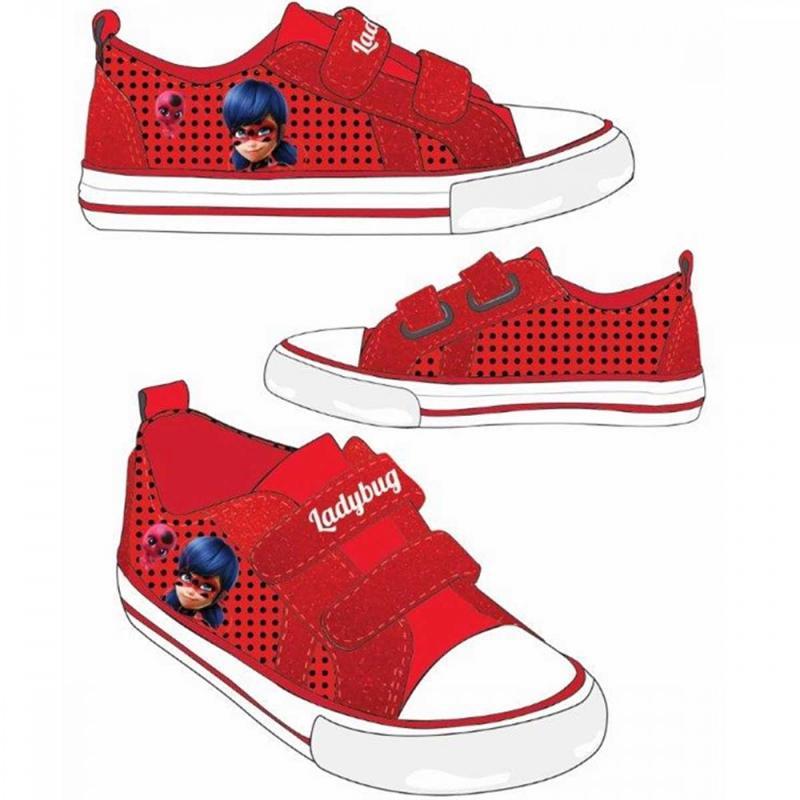 16x Baskets basses avec boites LadyBug du 27 au 34 - Chaussures