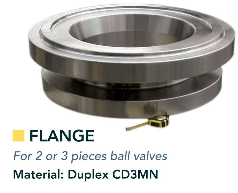 Body & flange - Valves - for 2 or 3 pieces ball valves