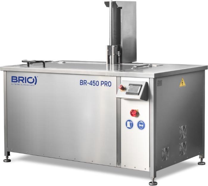 BR-450 PRO - Máquina de limpieza por ultrasonidos automática de 450 L