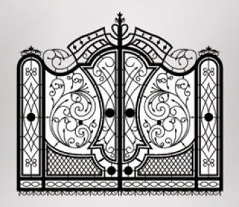 Hand wrought iron metal gates production and export - Handmade ornamental forged gates