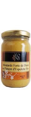 Moutarde de Dijon BIO au piment d'Espelette  - LEONY